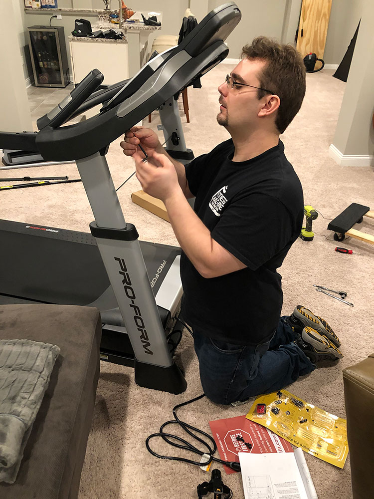 Treadmill assembly in Noblesville, IN