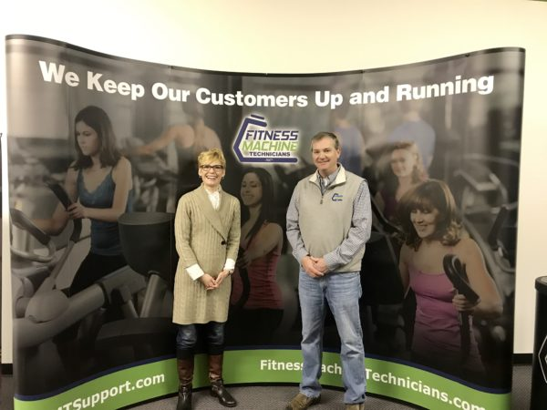Don with Sarah Brown, Franchise Development Manager, from Pinnacle Franchise Development