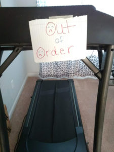 Out of Order Treadmill