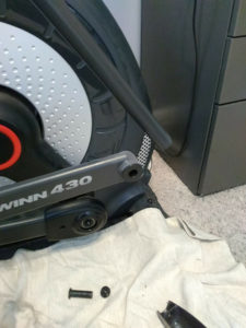 Broken washers on an elliptical