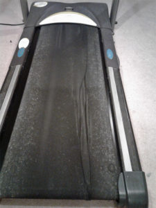 Warped treadmill belt