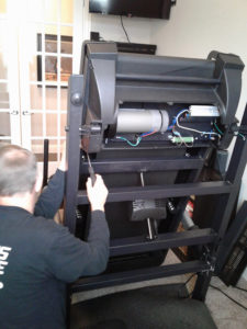 Treadmill motor installation