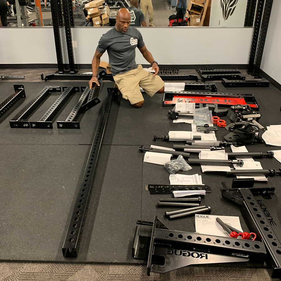 Weight rack installation in Phoenix, AZ