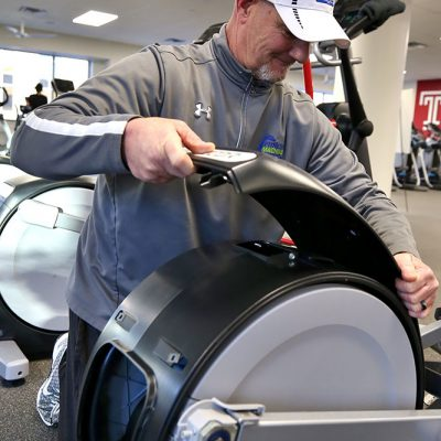 Replacing fitness equipment parts