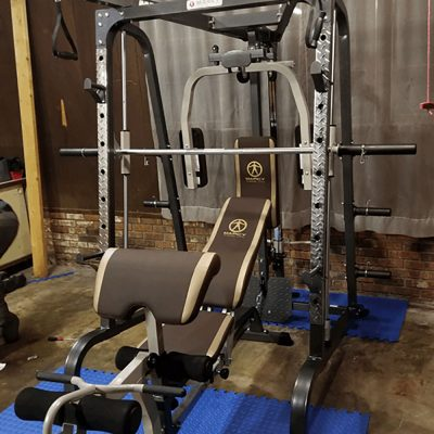Smith machine built and ready to use